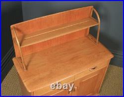 Vintage Retro English Ercol Style Oak Sideboard / Dresser / Cupboard by Priory