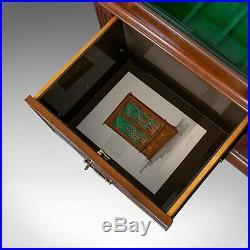 Vintage Secure Display Cabinet, English, Mahogany, Gun Rack, Asprey of London