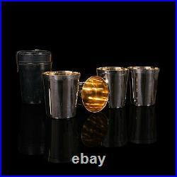 Vintage Stirrup Cup Set, English, Silver Plate, Tumbler, Dunhill, Circa 1970