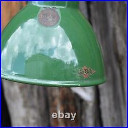 Vintage Task Enamel Work Light Industrial English Machinists Light
