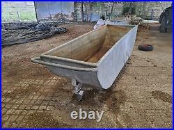 Vintage galvanized feed trough
