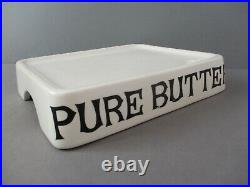 Vtg Antique English PURE BUTTER Slab Ironstone Grocers Shop Display Dairy Supply
